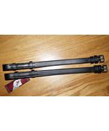 """Bobby's Bridle Cheek Pieces 5/8"""" x 12.5"""" Hook/Stud -  Black -Warmblood Size - $25.00"""