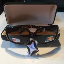 Polarized Diamond Fashion Sunglasses with Rhinestones and Case included - $15.00