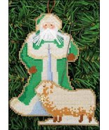 Shepherd Santa Olde Time Santa Ornament kit christmas perforated paper - $5.40