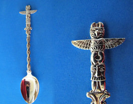Terrace Bc. Souvenir Collector Spoon Collectible Indian Totem Pole Vintage  - $5.95