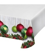 Christmas Ornaments Plastic Tablecover Border Print  54 x 102 in - $7.99