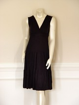 DIANE von FURSTENBERG PALMER BLACK DRESS - US 0 - UK 4 - $127.57