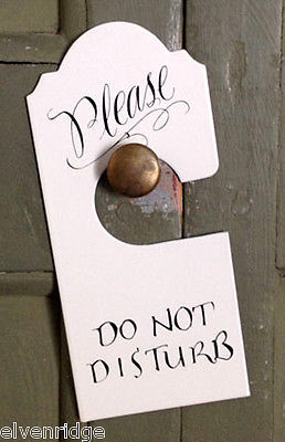 Enameled Metal Sign Do Not Disturb Honeymoon Wedding Shower Gift for Door Knob