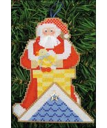 Up On The Rooftop Santa Olde Time Santa Ornamen... - $5.40