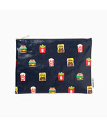 LINE Friends Burgers & Chips Pattern Pouch Cosmetics Bag Travel Characte... - $19.62