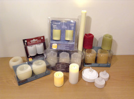 Big Collection Winter Holiday Home Decor Flameless Wax Led Candles Total 20