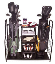 Golf, Gifts, & Gallery Steel Duel Golf Bag Organizer & Equipment Storage... - $96.91