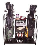 Golf, Gifts, & Gallery Steel Duel Golf Bag Organizer & Equipment Storage... - £73.79 GBP