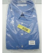 Irvine Park Men's Dress Shirt Long Sleeve Blue 17 1/2 Regular Cuff Collar - $14.99