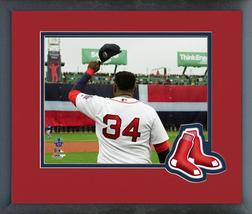 David Ortiz Hat Off at Retirement Ceremony 10/2/16 -11x14 Matted/Framed Photo - $42.95
