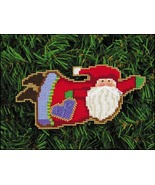 Christmas Heart Santa Olde Time Santa Ornament kit christmas perforated ... - $5.40