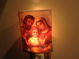 Religious Christian Scene Ceramic Night light with bulb NIB