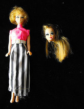 Bubble Cut Dawn Fashion Doll Topper 1970s plus Dawn doll head - $22.99