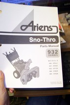 ariens 932 seris sno-thros parts manual 03236700a - $13.85