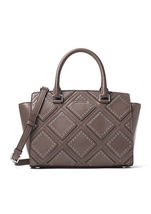 Michael Kors Diamond Grommet Cinder Leather Zip... - $659.99