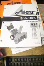 ariens 924 series sno-thros parts manual 02472500 orig 10/97 - $13.85
