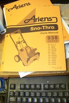 ariens 938 series sno-thros parts manual 038015c rev 5/96 - $13.85