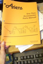 ariens sno-thros accessories parts manual 079777-dh - $13.85