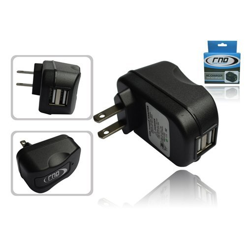 RND 2.1A (fast) Dual Black USB AC Adapter / Wall charger for Motorola Smartph...