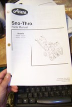 ariens sno-thros parts manual 02478300d 09/99 - $13.85