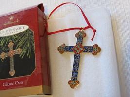 Hallmark Classic Cross Christmas ornament keepsake precious metal 1997 B... - $39.59