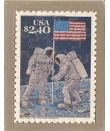 USPS POSTCARD - Commemorative Puzzle series - MOON LANDING - FREE SHIPPING - $15.00