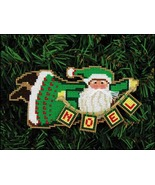 Christmas Cheer Santa Olde Time Santa Ornament kit christmas perforated ... - $5.40