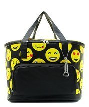 Emoji Smile Faces Canvas Large Insulated Cooler... - $32.33