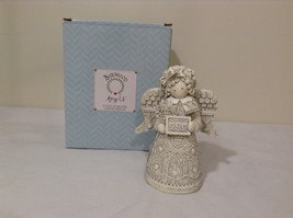 Boxwood Angels Clementine design Angel with MOM sign figurine NIB - $39.99