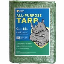 GUARD RHINO Tarp 9x15 Feet Green Multi Purpose Waterproof Poly Tarp Cover 4mil