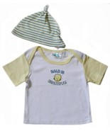 Honey Baby 6-9 Mos. Baby Boys Top and Striped Cap - $1.99