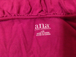 A.n.a. (A new approach) Fuchsia pink jersey blouse V-neck 3/4 sleeve size L image 7