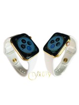 Custom 24K Gold Plated 44MM Apple Watch Series 6 With White Sport B GPS+LTE+O2 - $1,377.50