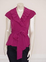 DIANE von FURSTENBERG BETHANIA BERRY TOP  BLOUSE - US 10  - UK  14 - $85.00