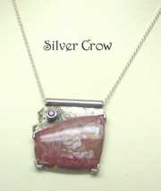 Sterling Silver Mozarkite and Amethyst Necklace - $107.99