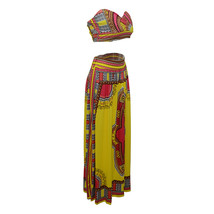 Sleeveless Strapless Polyester milk silk Tribal Printed Pattern African Clothing - $40.95