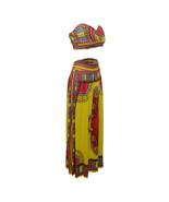 Sleeveless Strapless Polyester milk silk Tribal Printed Pattern African ... - $40.95