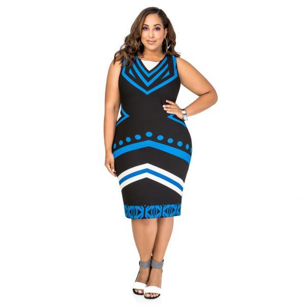 Sleeveless milk silk Plus Size Dress - $26.95