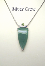 Sterling Silver Jade and Peridot Necklace - $149.99