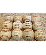 Lot of 12 TEE BALL practice training little big league SOFT baseballs   - $29.65