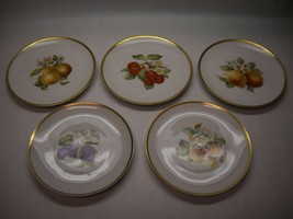 HUTSCHENREUTHER SELB Pasco SALAD Plates 5 Bavaria GERMANY Large FRUIT Pa... - $98.99
