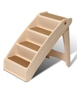 Pet Stairs Dog Ladder Ramp Portable Non Skid Tall Folding Bed Steps XL 2... - $89.84