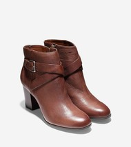 cole haan hinckley ankle boots, sequoia brown, 10 - $122.55