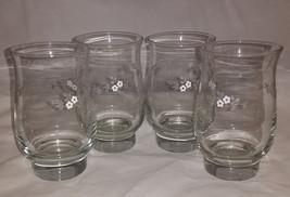 Set of 4 Pfaltzgraff Flower Pattern Drink Tumblers - $14.99