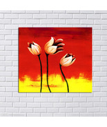 Hand-painted Abstract Flowers canvas oil painting Home Decor  - $32.04