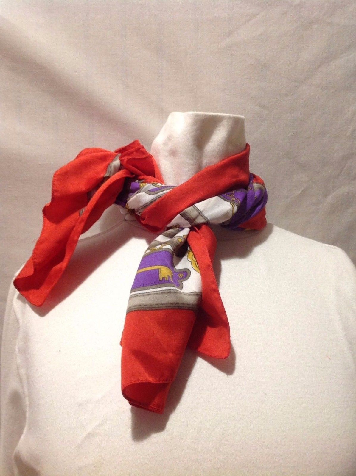 Red Purple White Gold Gray Key Keyholes Chains Scarf