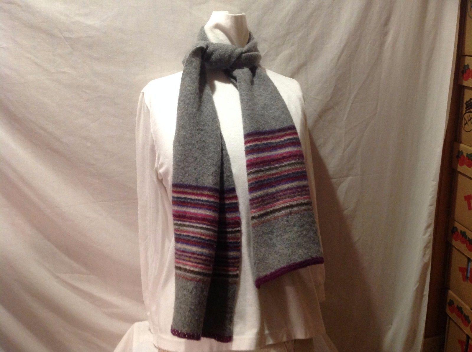 Express Lambswood Beaded Trim Gray Green Pink Purple White Blue Yellow Tan Scarf
