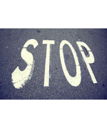 Stop street sign background vintage city asphalt floor 45959877 thumbtall