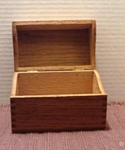 Vintage Wood Recipe Card Box // Recipe Card Fil... - $12.00