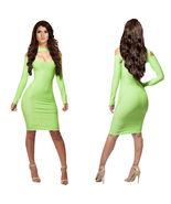 Women Sexy BodyconV Front Body Microfiber Knee Length Long Sleeve Dress ... - $13.88